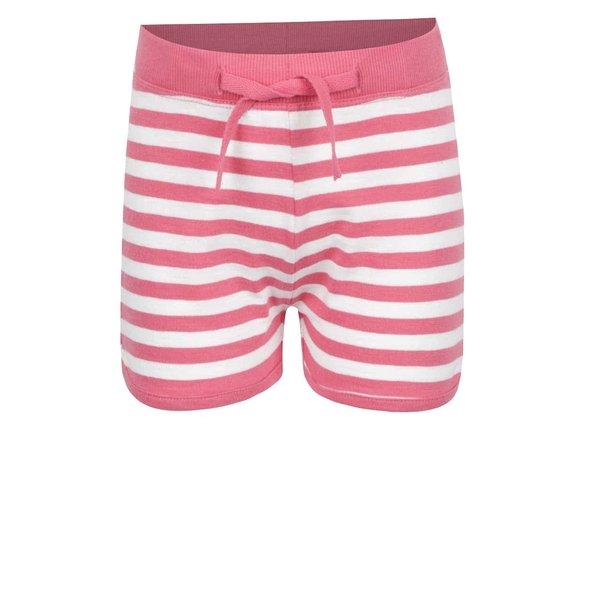 Pantaloni scurți crem & roz name it Tisa din bumbac cu model în dungi pentru fete de la name it in categoria Pantaloni, pantaloni scurți, colanți