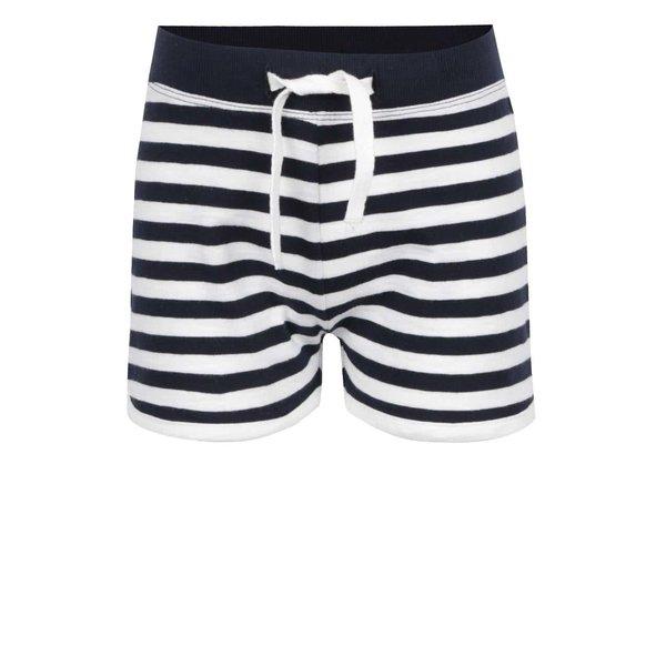 Pantaloni scurți negru & crem name it Tisa din bumbac cu model în dungi pentru fete de la name it in categoria Pantaloni, pantaloni scurți, colanți