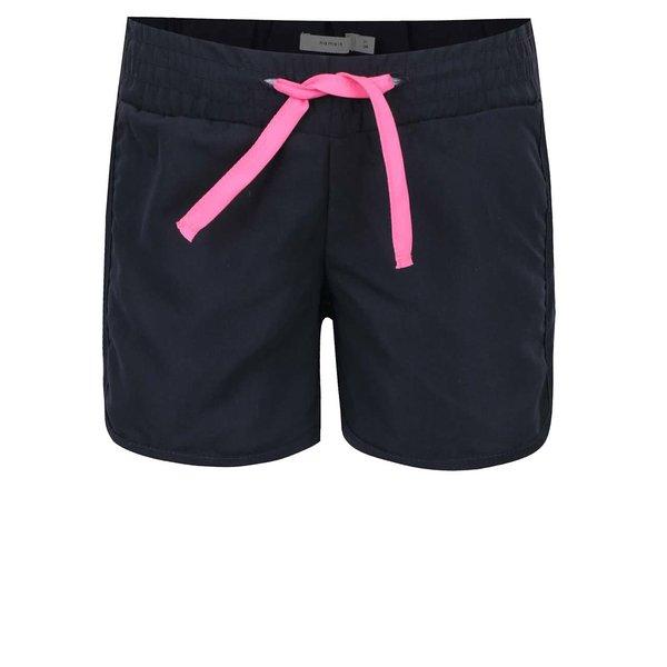 Pantaloni scurți albaștri name it Zigga cu talie elastică pentru fete de la name it in categoria Pantaloni, pantaloni scurți, colanți