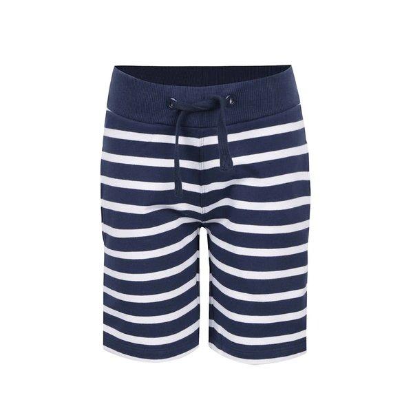 Pantaloni scurți crem & albastru name it Iron cu model în dungi pentru băieți