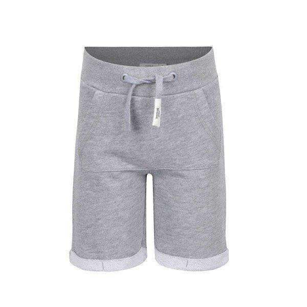 Bermude gri melanj name it Igo cu talie elastică pentru băieți