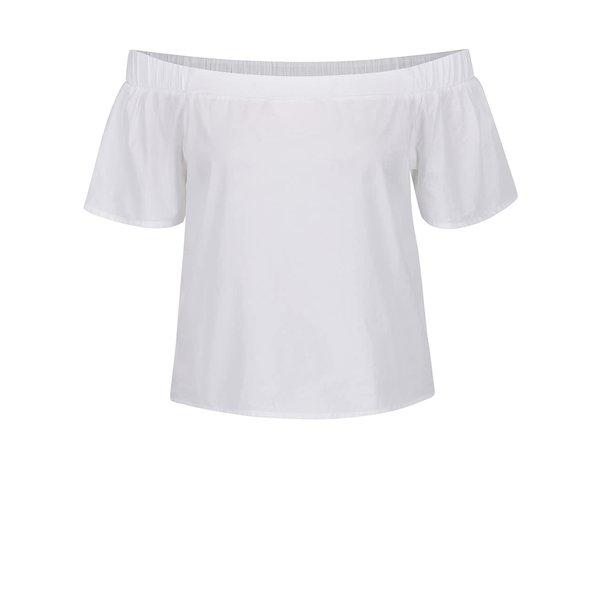 Top alb ONLY Pop-Popeline cu decolteu pe umeri de la ONLY in categoria Topuri, tricouri, body-uri