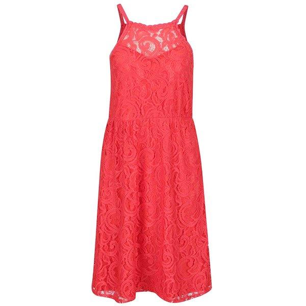 Rochie roșie fără mâneci Vero Moda Thea din dantelă de la VERO MODA in categoria rochii de seară