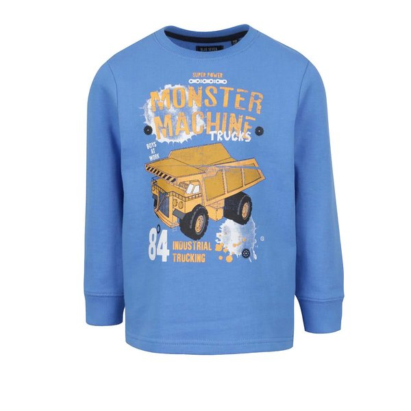 Bluză albastră cu print Blue Seven pentru băieți