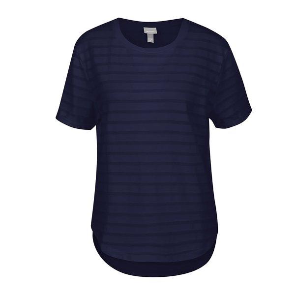 Tricou albastru închis Bench cu dungi