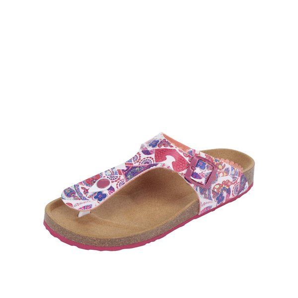 Papuci roz Desigual Bio3 Hearts cu talpă ortopedică de la Desigual in categoria șlapin