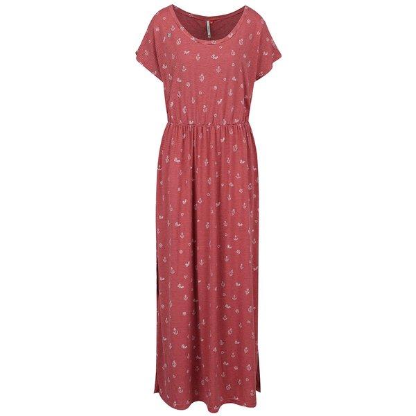 Rochie maxi roșie Ragwear Arlene cu model în dungi de la Ragwear in categoria rochii casual
