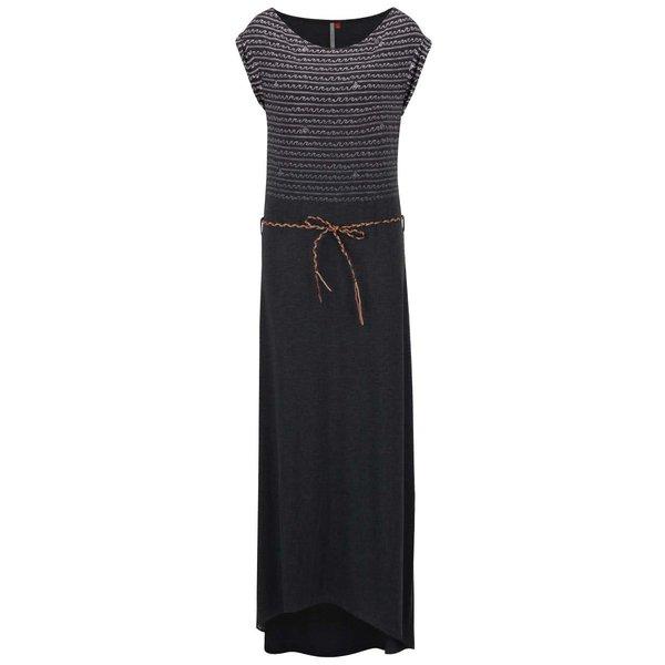 Rochie maxi neagră Ragwear Tag Long cu model de la Ragwear in categoria rochii de vară și de plajă