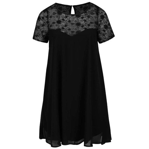Rochie neagră Goddiva din material vaporos de la Goddiva in categoria Mărimi curvy