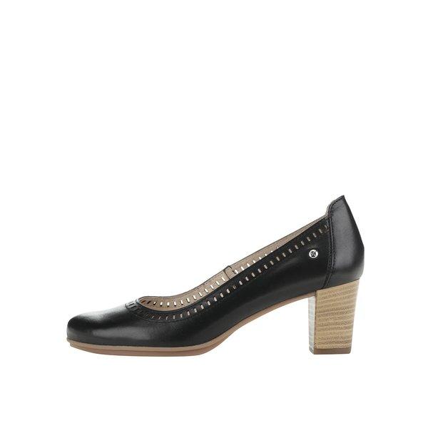 Pantofi negri cu toc Pikolinos Segovia din piele