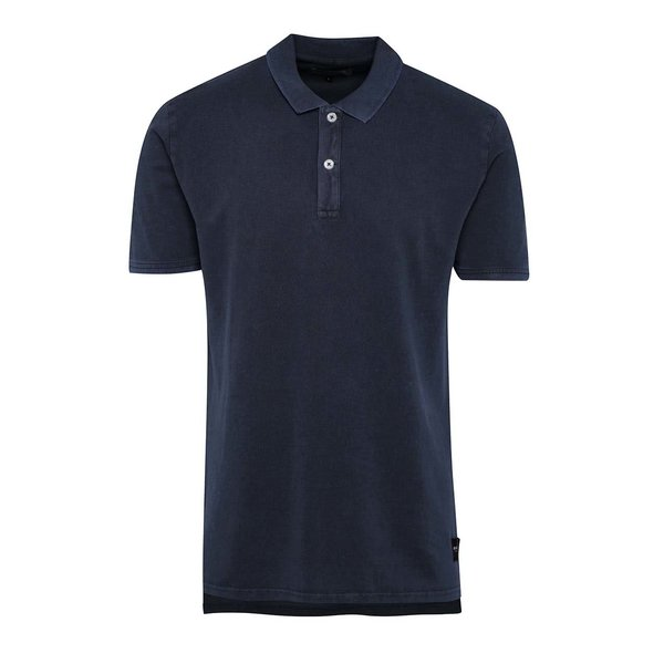 Tricou polo albastru închis ONLY & SONS Marcos din bumbac cu tiv asimetric de la ONLY & SONS in categoria tricouri polo