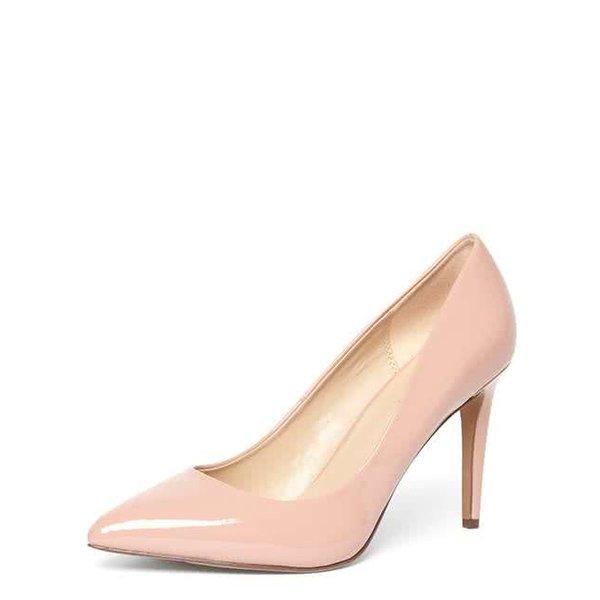 Pantofi nude lăcuiți Dorothy Perkins cu toc stiletto