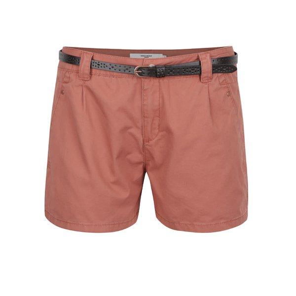 Pantaloni scurti caramizii cu curea VERO MODA Boni