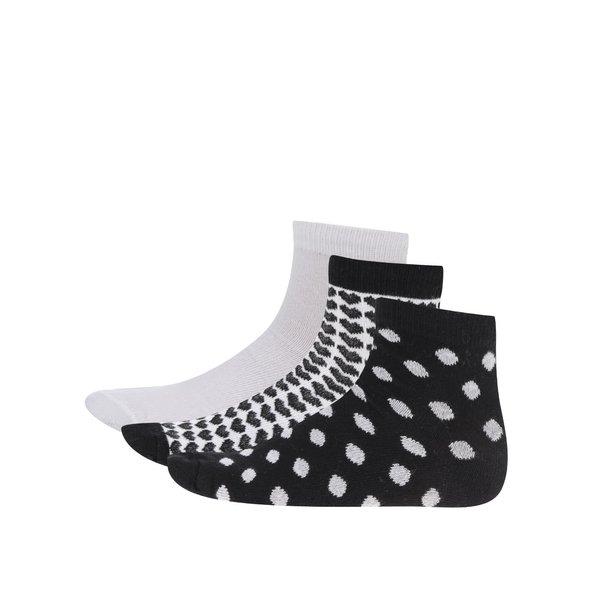Set alb&negru cu 3 perechi de șosete 5.10.15. pentru fete
