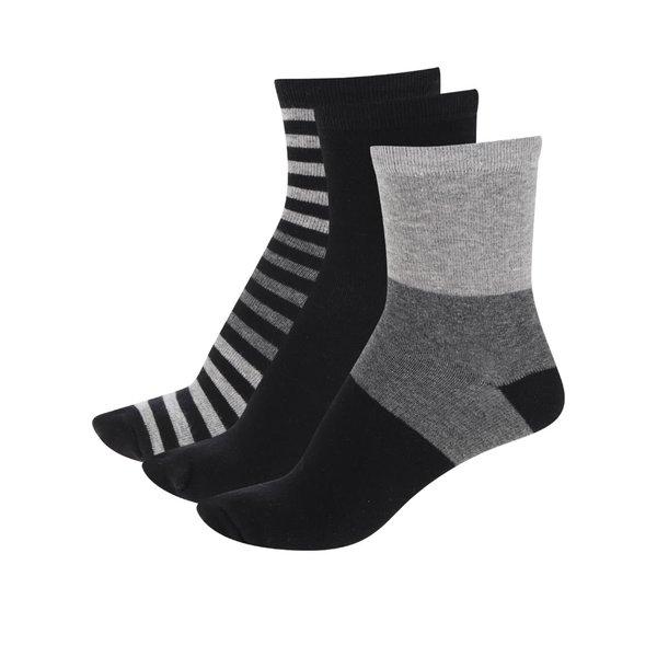 Set gri&negru cu 3 perechi de șosete 5.10.15. pentru băieți de la 5.10.15. in categoria Sosete, dresuri