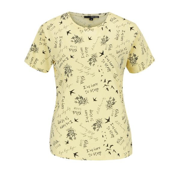 Tricou galben pai TALLY WEiJL cu imprimeu de la TALLY WEiJL in categoria tricouri
