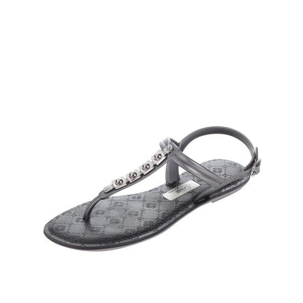 Sandale argintii Grendha cu detaliu auriu de la Grendha in categoria sandale