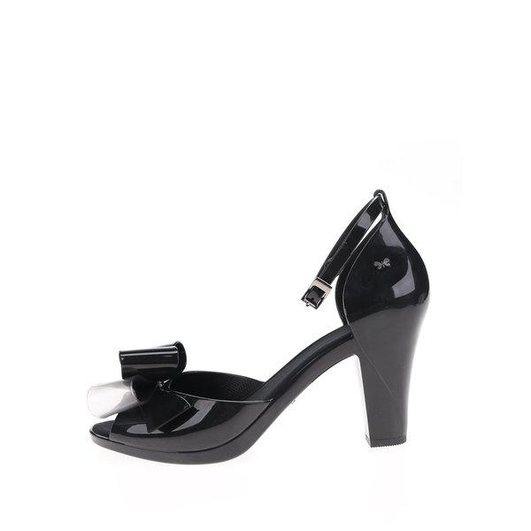 Pantofi negri peep-toe Zaxy cu fundiță de la Zaxy in categoria pantofi cu toc