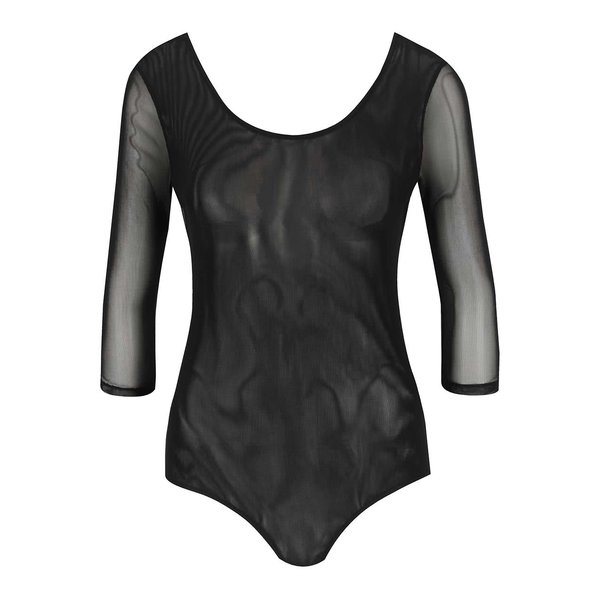 Body negru TALLY WEiJL din plasă translucentă de la TALLY WEiJL in categoria Topuri, tricouri, body-uri