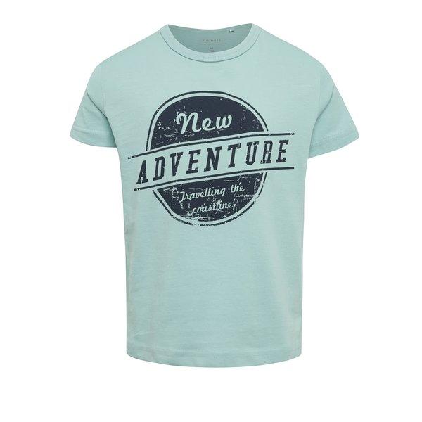 Tricou albastru cu print Name It Victor pentru băieți