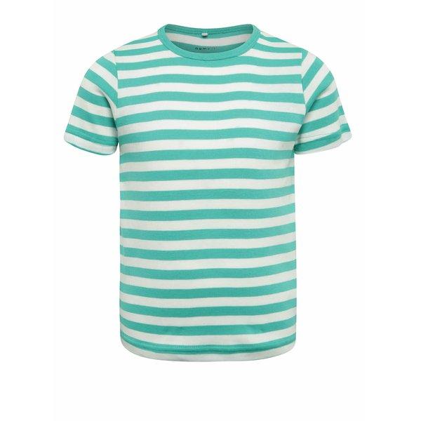 Tricou crem&verde cu dungi Name It Villy pentru băieți