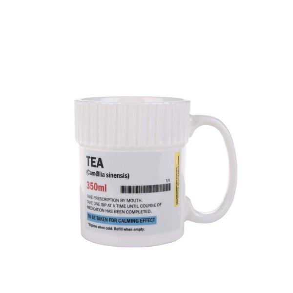Cană albă cu text Gift Republic Tea