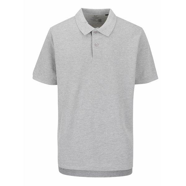 Tricou polo gri JP 1880 cu șlițuri laterale de la JP 1880 in categoria tricouri polo
