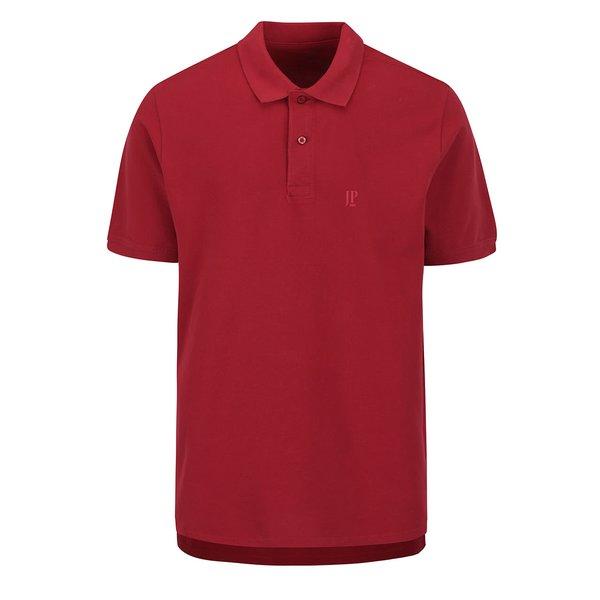 Tricou polo roșu închis JP 1880 cu șlițuri laterale de la JP 1880 in categoria tricouri polo