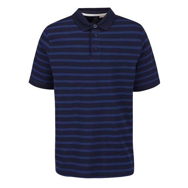 Tricou polo albastru JP 1880 cu model în dungi de la JP 1880 in categoria tricouri polo