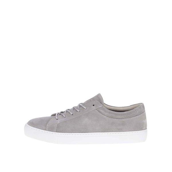 Pantofi sport gri deschis Jack & Jones Glaxy din piele întoarsă de la Jack & Jones in categoria pantofi sport și teniși