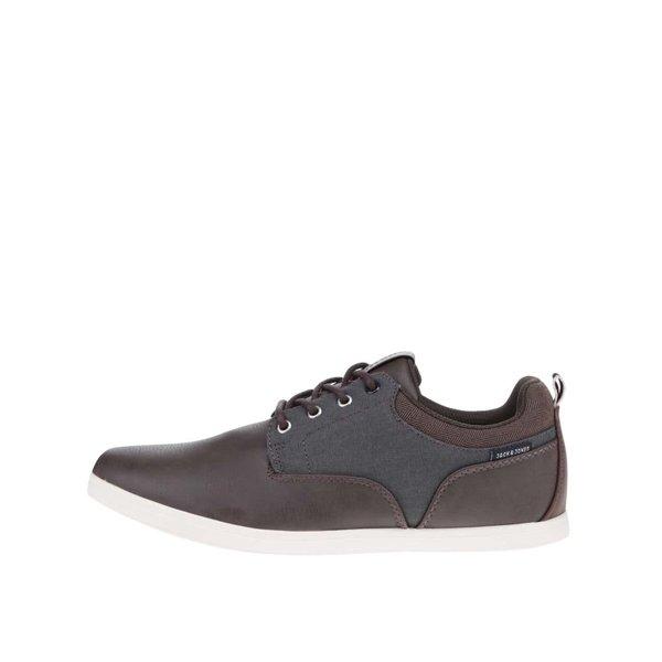 Pantofi sport maro închis Jack & Jones Vaspa cu detalii gri de la Jack & Jones in categoria pantofi sport și teniși