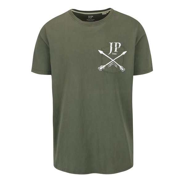 Tricou kaki JP 1880 cu buzunar și logo print