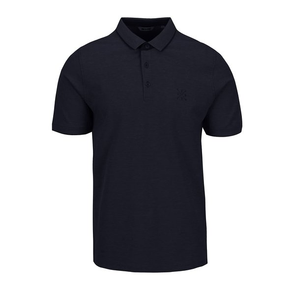 Tricou polo bleumarin ONLY & SONS Stan din bumbac cu logo de la ONLY & SONS in categoria tricouri polo