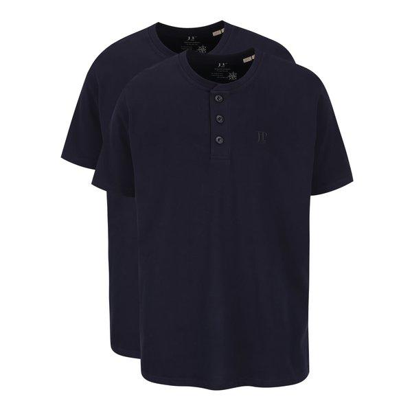 Set bleumarin JP 1880 cu două tricouri cu nasturi de la JP 1880 in categoria tricouri