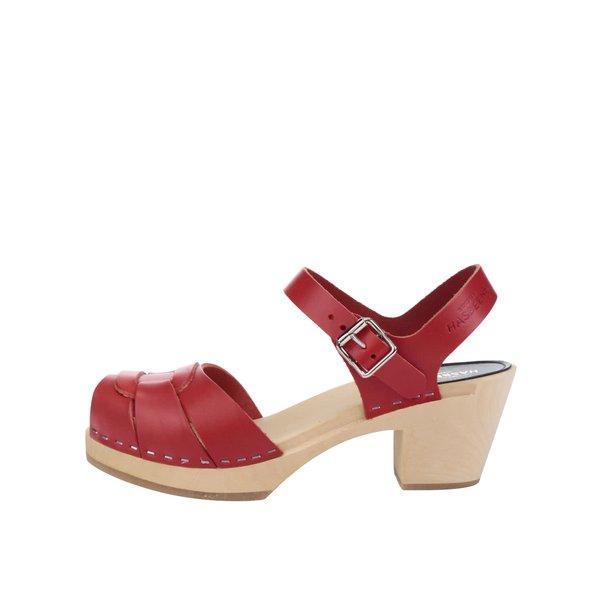 Sandale sabot din piele cu toc Swedish Hasbeens Peep Toe High de la Swedish Hasbeens in categoria pantofi cu toc