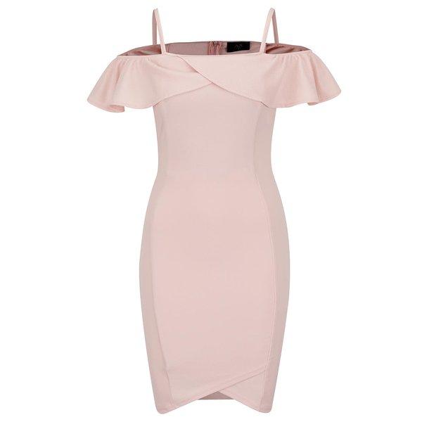 Rochie roz prăfuit Ax Paris cu decolteu pe umeri de la AX Paris in categoria rochii de seară