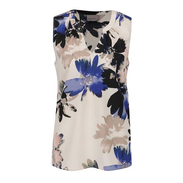 Top crem VERO MODA Megan cu imprimeu floral de la VERO MODA in categoria Topuri, tricouri, body-uri