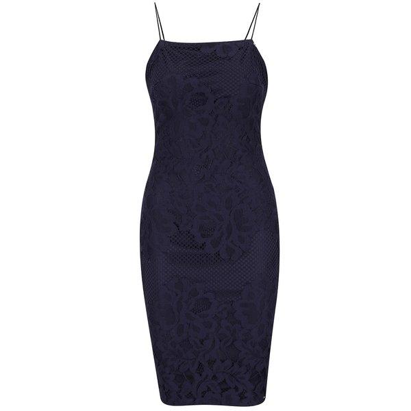 Rochie bleumarin Ax Paris din dantelă de la AX Paris in categoria rochii de seară