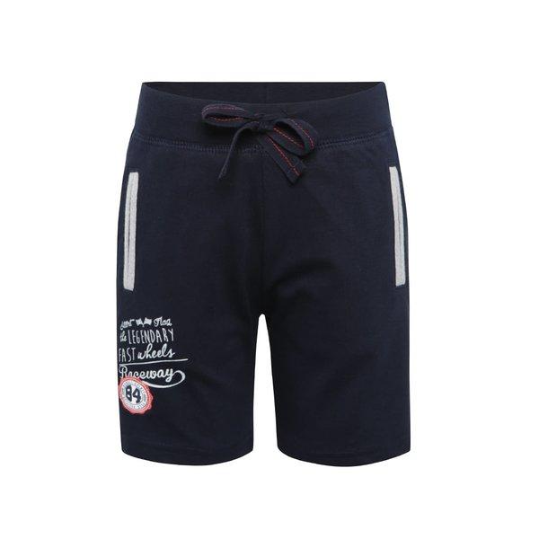 Pantaloni sport scurți albastru închis Bóboli din bumbac cu print