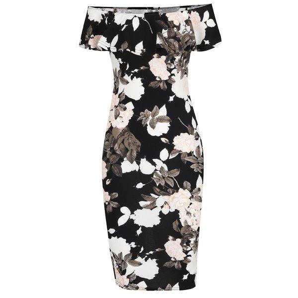 Rochie bodycon negru&crem Ax Paris cu imprimeu floral de la AX Paris in categoria rochii de seară