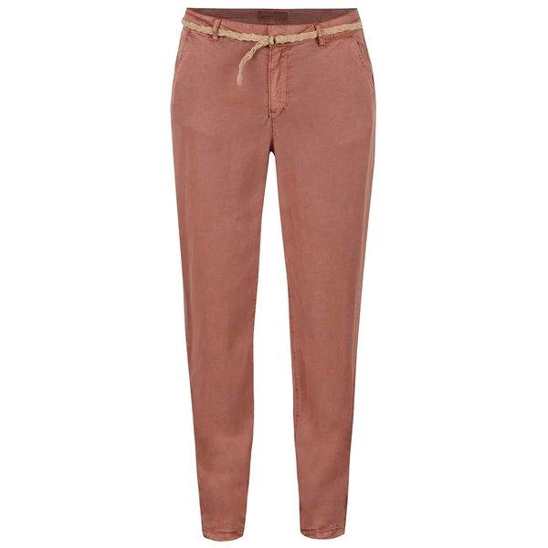 Pantaloni chino roșu cărămiziu VERO MODA Zoe de la VERO MODA in categoria Blugi, pantaloni, colanți