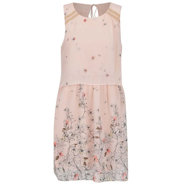 Rochie roz pal VERO MODA Lea cu imprimeu floral de la VERO MODA in categoria rochii casual