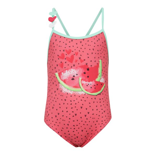 Costum de baie roz Bóboli cu model și print