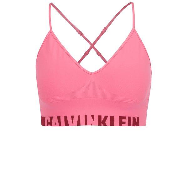 Bustiera roz cu print logo Calvin Klein de la Calvin Klein in categoria Lenjerie intimă, pijamale, costume de baie