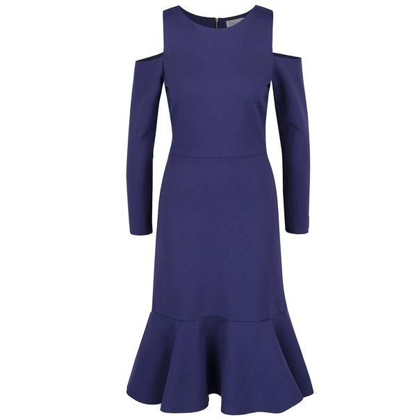 Rochie albastra cold shoulder - Closet