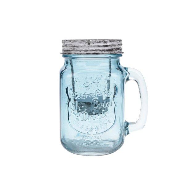 Suport pentru lumânare Dakls din sticlă albastră de la Dakls in categoria CASĂ ȘI DESIGN