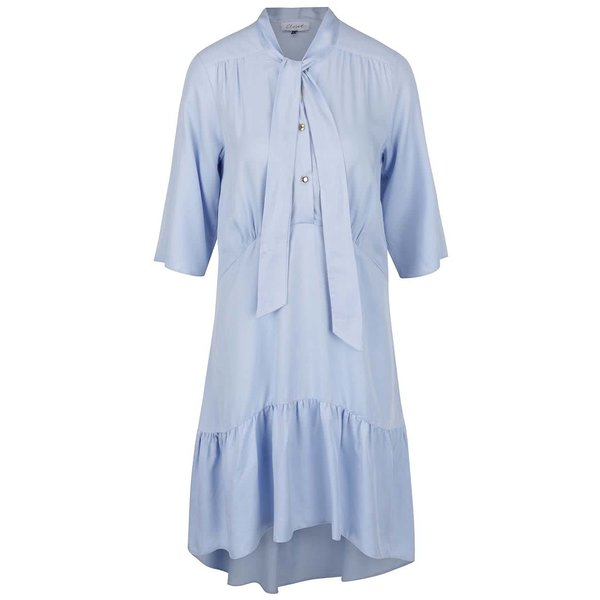 Rochie albastru deschis cu panglici decorative - Closet