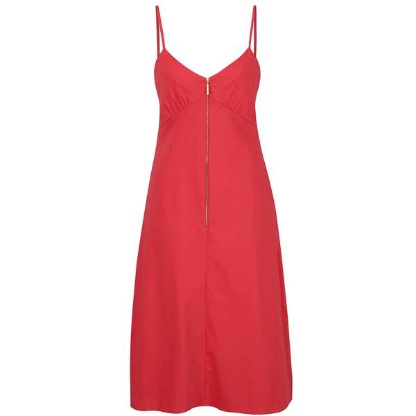 Rochie rosie cu bretele subțiri - Closet