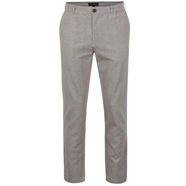 Pantaloni maro Broadway Dennis cu model discret