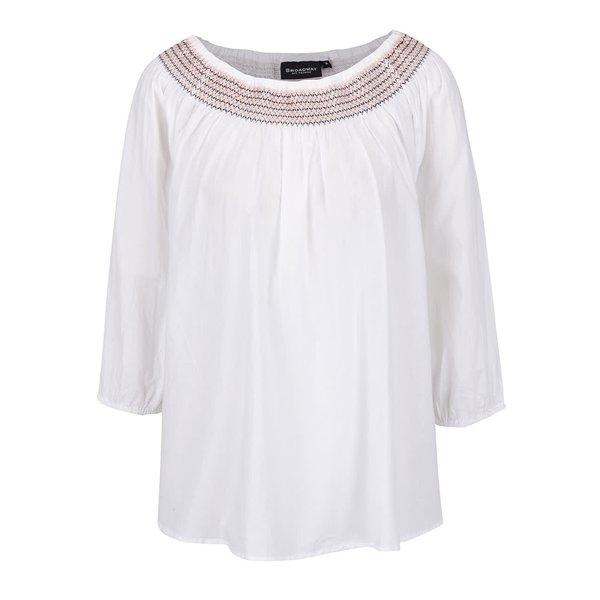Bluză albă cu broderie Broadway Evie